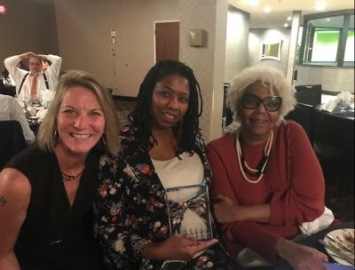 Cook County Public Defender Amy Campanelli, APD Camille Durham, and Ms. Durham's mother